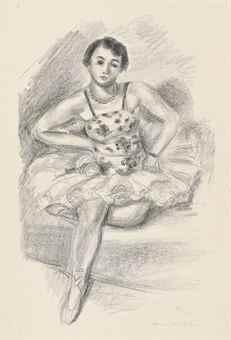 Danseuse assise, from Dix Danseuses-1927