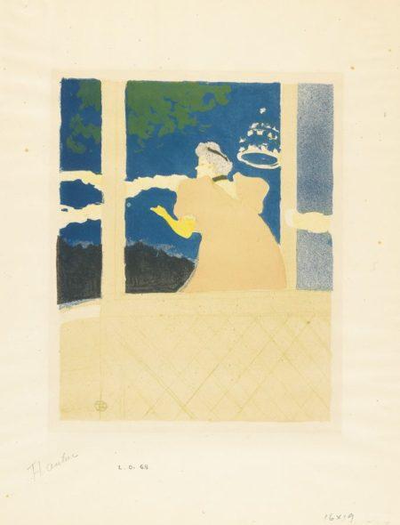 Henri de Toulouse-Lautrec-Aux Ambassadeurs - Chanteuse Au Cafe-Concert-1894