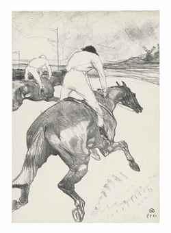 Henri de Toulouse-Lautrec-Le Jockey-1899