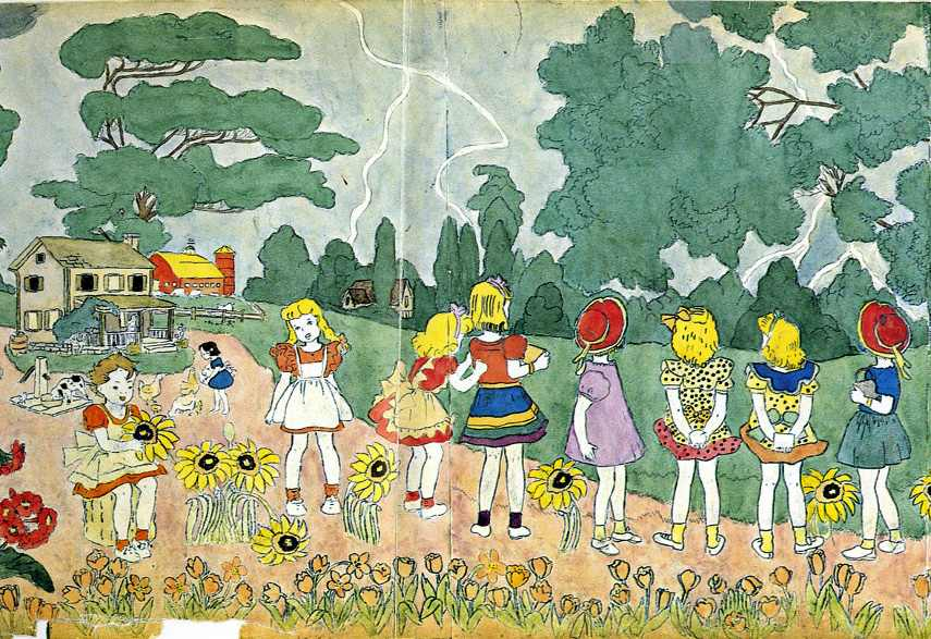 Every page from darger's books featured lerner vivian girls