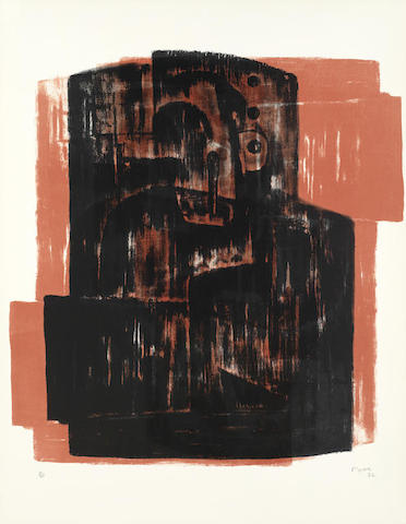 Henry Moore-Black on Red image-1963
