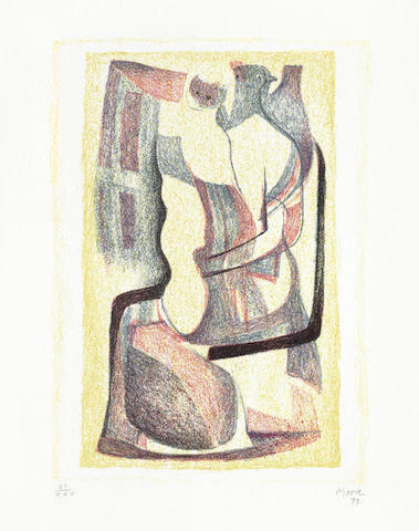 Henry Moore-Glenkiln Cross II & Seated Mother and Child 3 vol + 2-1973