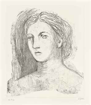Henry Moore-Head of a Woman-1981