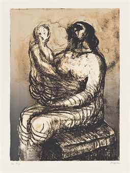 Henry Moore-Mother with Child on Lap-1982