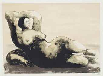 Henry Moore-Reclining Woman on Sea Shore-1981