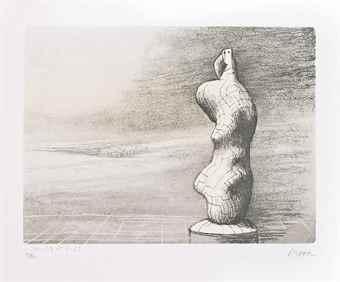 Henry Moore-Standing Figure Storm Sky-1978