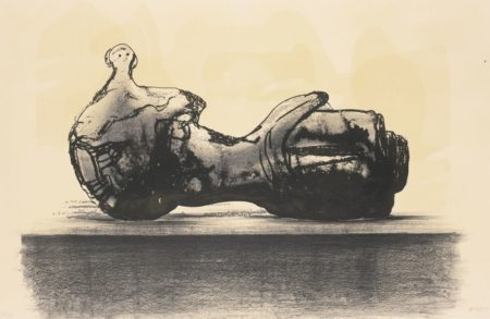Henry Moore-Stone Reclining Figure-1977