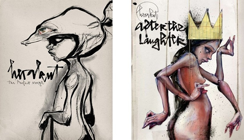 Herakut -Herakut books, The Perfect Merge (2009) and After The Laughter (2011)