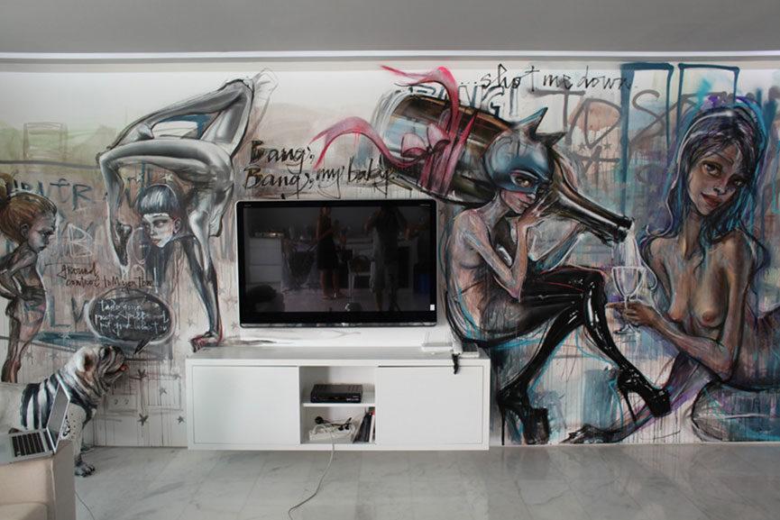 herakut indoor mural