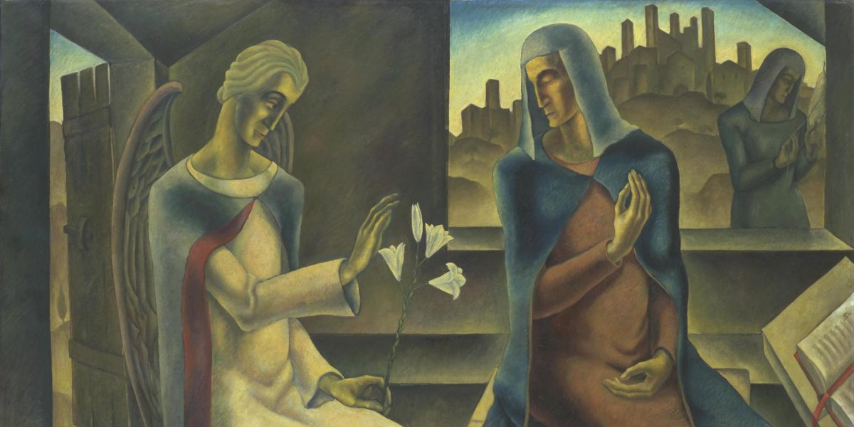 Herbert Gurschner - The Annunciation, 1929-30 (Detail) - Tate Collection