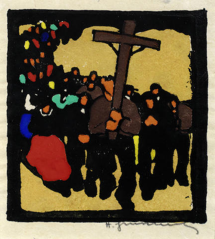 Herbert Gurschner-The Procession with Crossbearer-