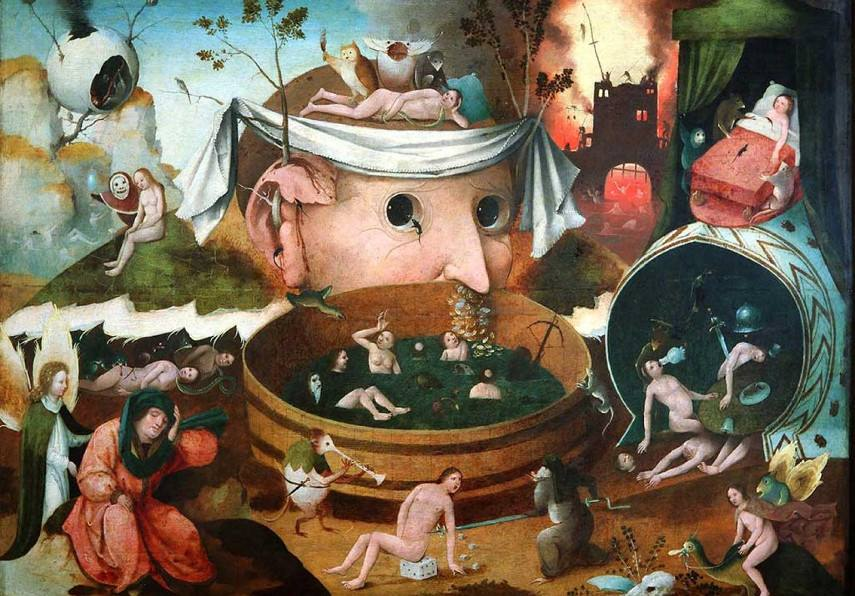Earthly Delights Garden is a Hieronymous triptych work that's a part of the Seven Home Sins museum