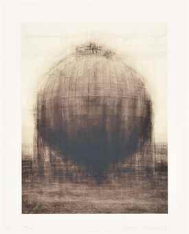 Idris Khan-Every... Bernd and Hilla Becher Spherical Type Gasholders-2008