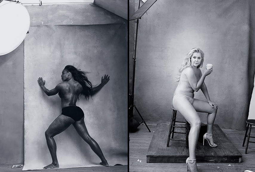 Images of Serena Williams and Amy Schumer by Annie Leibovitz