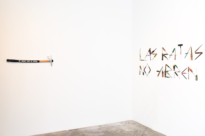 Installation view, Everything you are I am not- Latin American Art from the Tiroche DeLeon Collection, at Mana Wynwood, December 1, 2015. [Works pictured by Moris.]