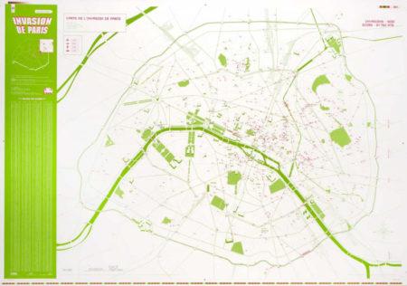 Invader-Carte de l'invasion de Paris-2011