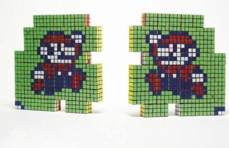 Invader-Mario Divided-2005