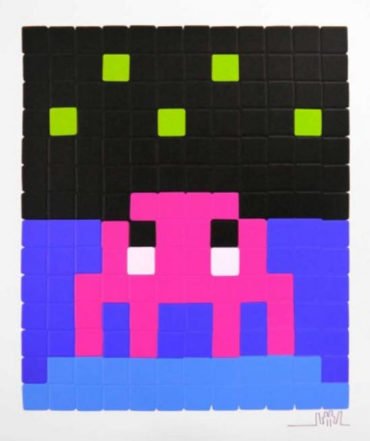 Invader-Space One (pink)-2013