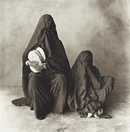 Irving Penn-Two Women in Black with Bread, Morocco-1971