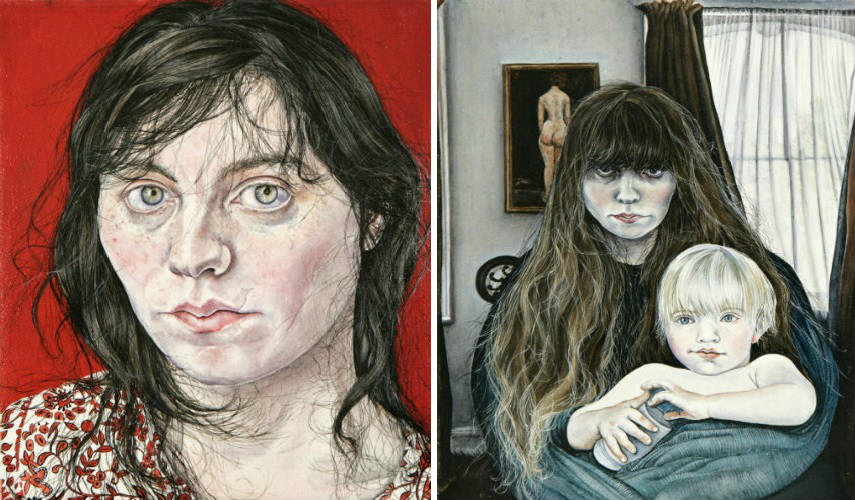 Ishbel Myerscough - Life, 2004 (Left) - Misery, 2006 (Right), Images courtesy of the Flowers Gallery