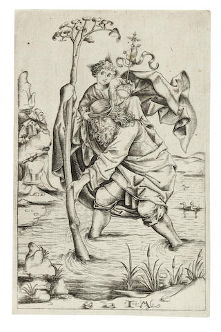 Israhel van Meckenem the Younger-St Christopher-1480