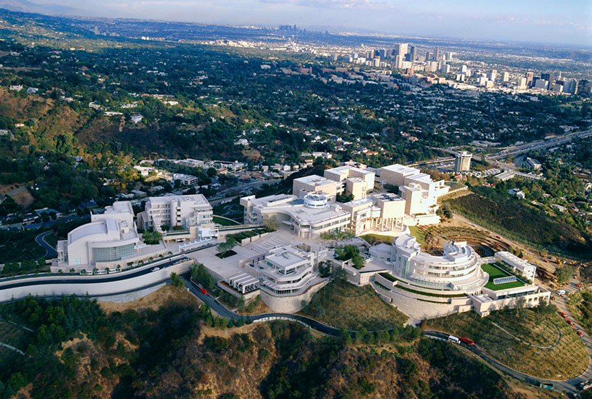 The spectacular complex of the J. Paul Getty Museum in Los Angeles museum  arts 2016 center culture arts opening march music home  collection