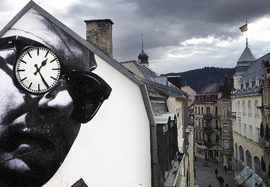 JR art in Baden Baden