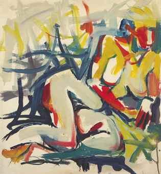 Jack Tworkov-Untitled (Woman)-1955
