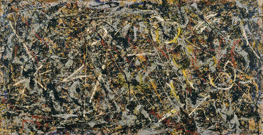 Jackson Pollock - Alchemy, 1947, art work and works from 1943, 1946, 1950 and 1953 are based largely in museum