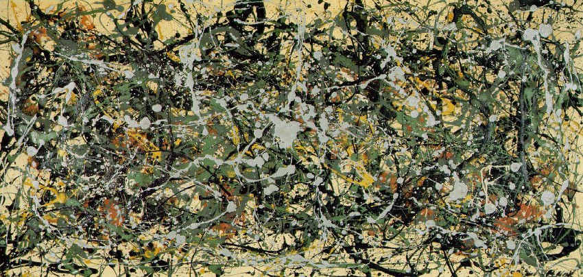 Jackson Pollock - Number 8, 1949, around 1950