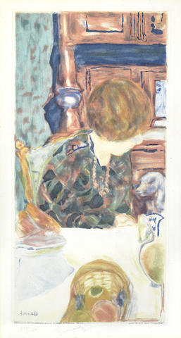Jacques Villon-Bonnard, la Femme au Chien, after Pierre Bonnard-1924