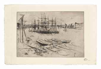 James Abbott McNeill Whistler-Penny Passengers, Limehouse-1860
