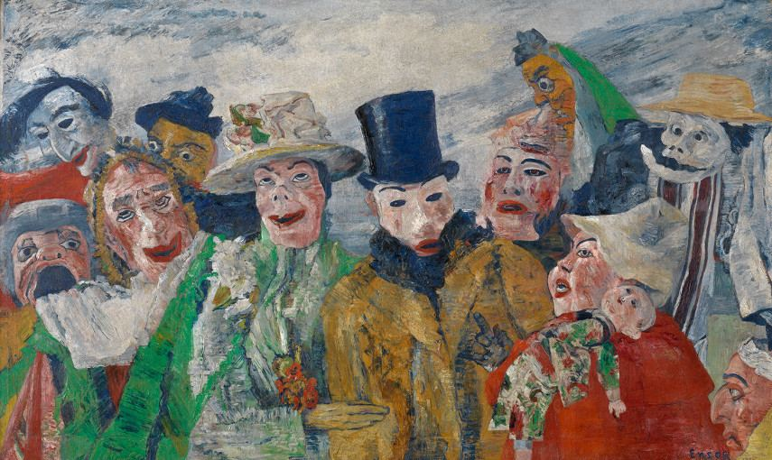 James Ensor - Intrigue - Image via NYC museum