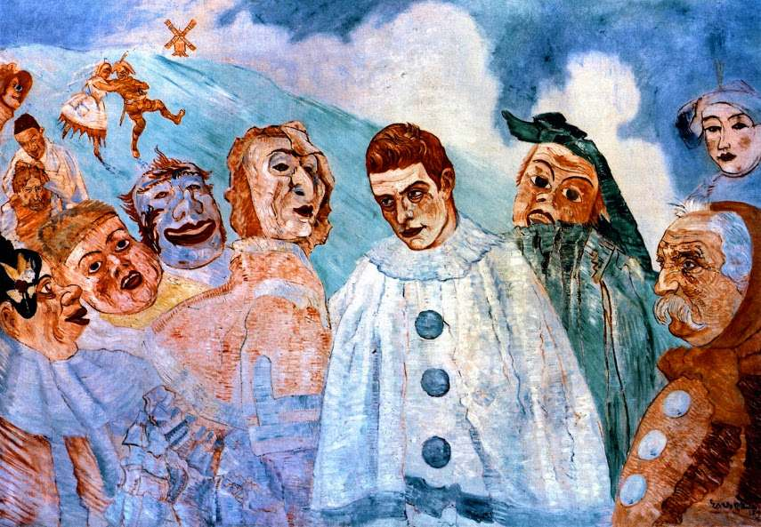 James Ensor - The Despair of Pierrot in museum, 1892 - Image via pinterestcom