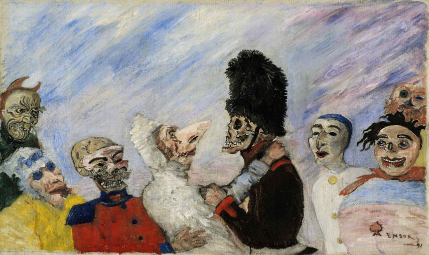 James Ensor - The Man & the Mask in museum - Image via artnetcom