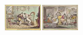 James Gillray-Harmony Before Matrimony; Matrimonial harmonics; A Little Music (The Delights of Harmony)-1805