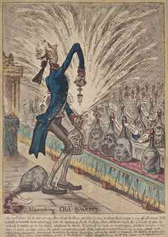 James Gillray-Uncorking Old-Sherry-1805