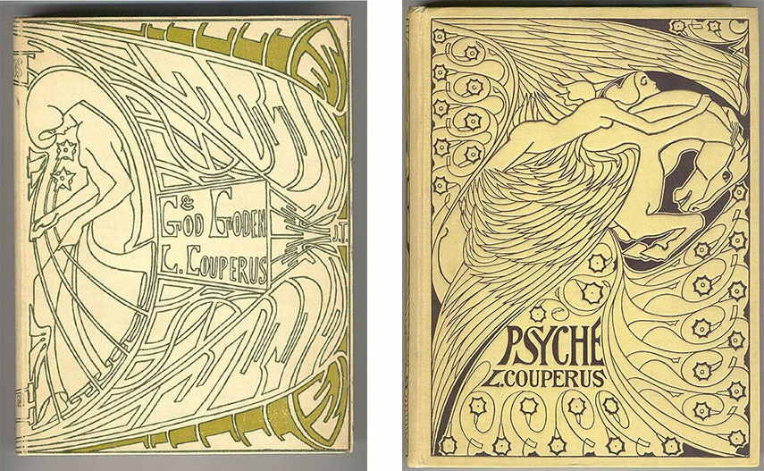 Jan Toorop - Cover for God en Goden by Louis Couperus, 1903 / Cover for Psyche by Louis Couperus, 1898 brussels amsterdam museum Jan Toorop works life james poster