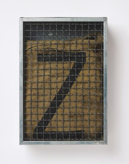 Jannis Kounellis-Untitled (Sack with Z)-2001
