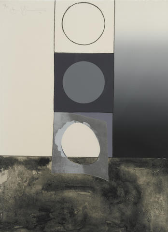 Jasper Johns-Bent Stencil from Fragment-According to What Series-1971