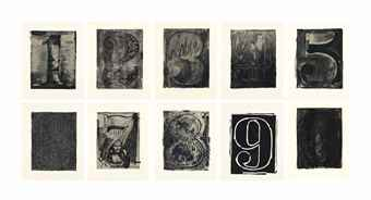 Jasper Johns-Black Numeral Series-1968