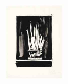Jasper Johns-Savarin 2 (Wash and Line)-1978
