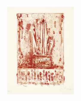 Jasper Johns-Savarin 3 (Red)-1978