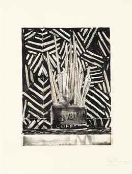 Jasper Johns-Savarin 5 (Corpse and Mirror)-1978