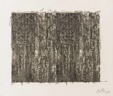 Jasper Johns-Two Flags (Ulae 121)-1972