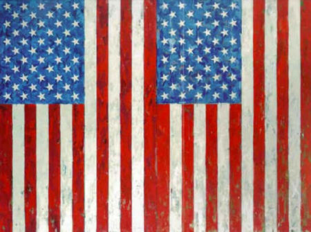 Jasper Johns-Two Flags-1973