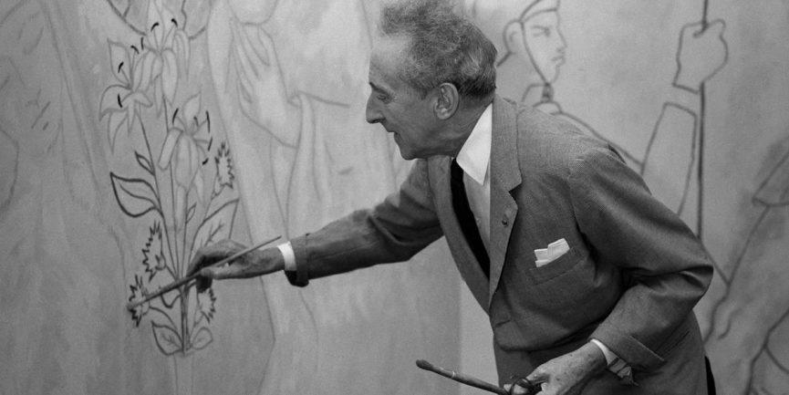 Jean Cocteau - Photo of the artist - Image via pinterest
