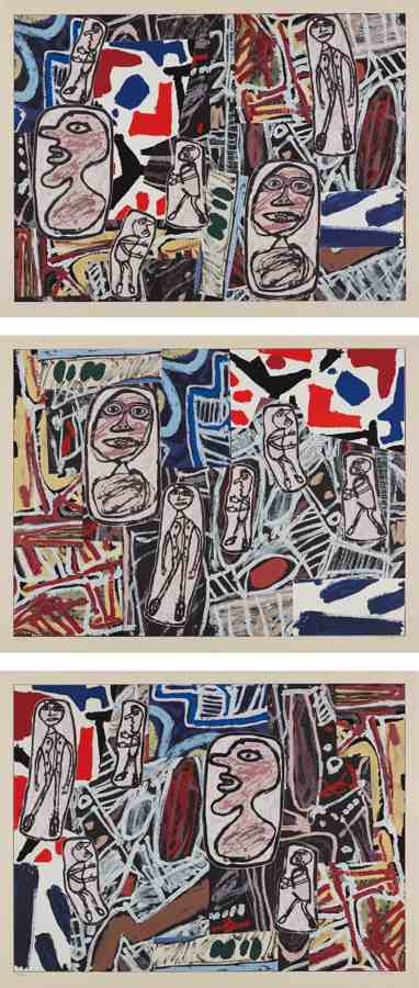 Jean Dubuffet-Faits memorables I-III (Memorable Events I-III)-1978
