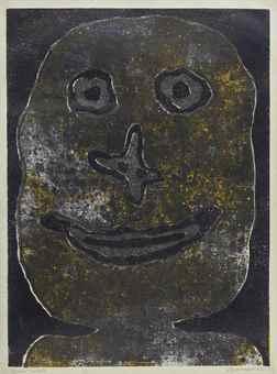 Jean Dubuffet-Sourire II-1962