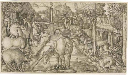 Jean Duvet-The Unicorn Purifies The Water With His Horn-1560